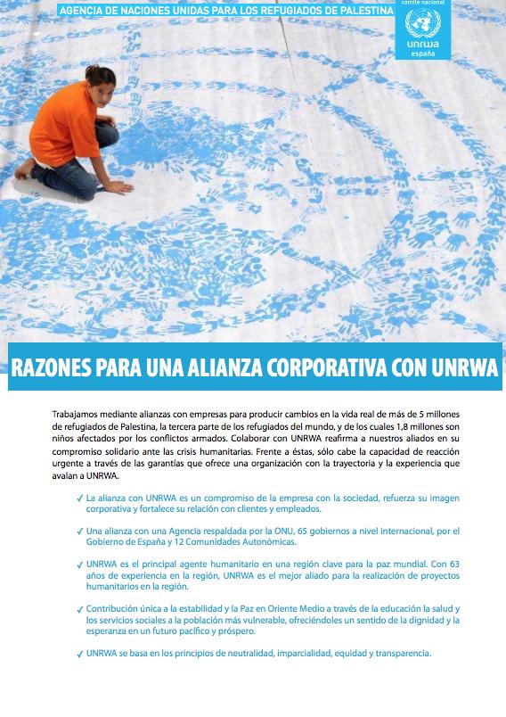 Alianza corporativa con UNRWA