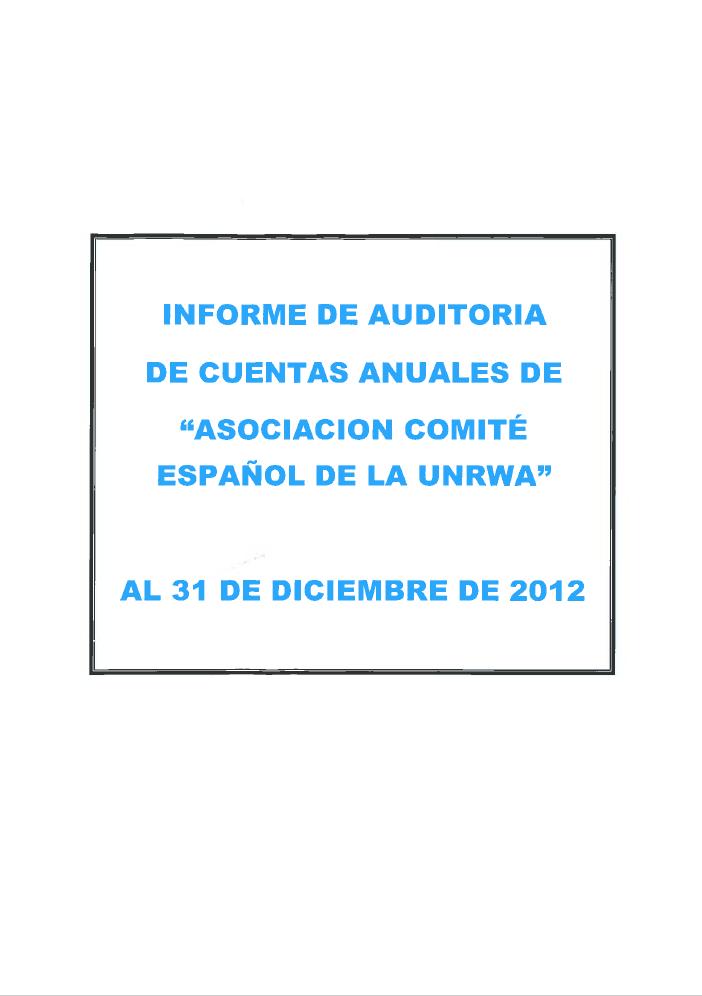 Auditoría 2012