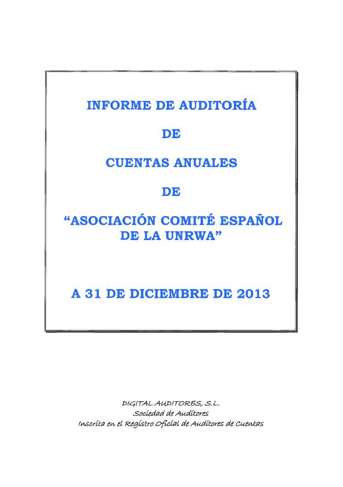 Auditoría 2013