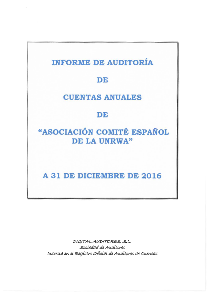 Auditoría 2016