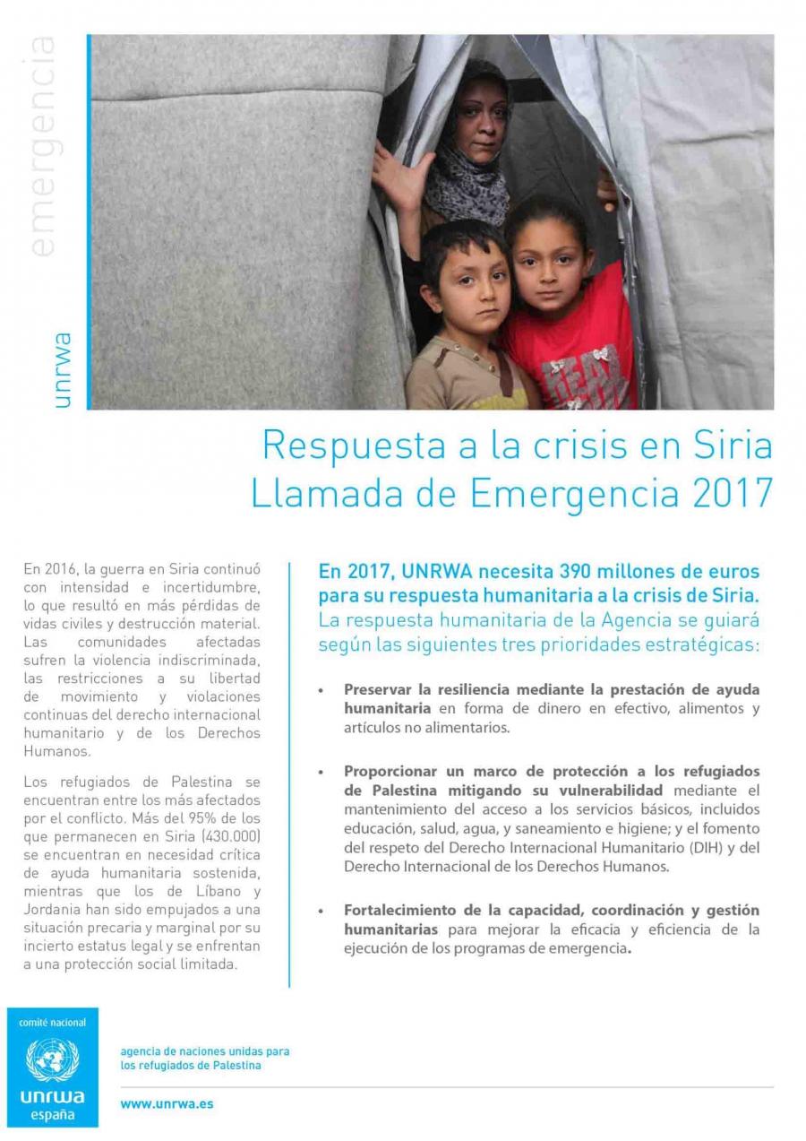 Resumen Llamada de emergencia Siria 2017