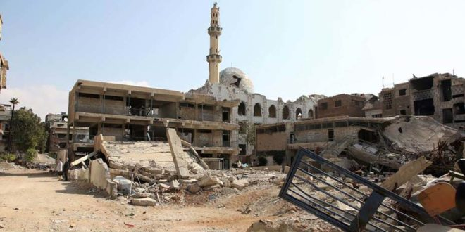 Casi todas las instalaciones de UNRWA en los campamentos de Yarmouk y Deraa en Siria han sido destruidas o gravemente dañadas
