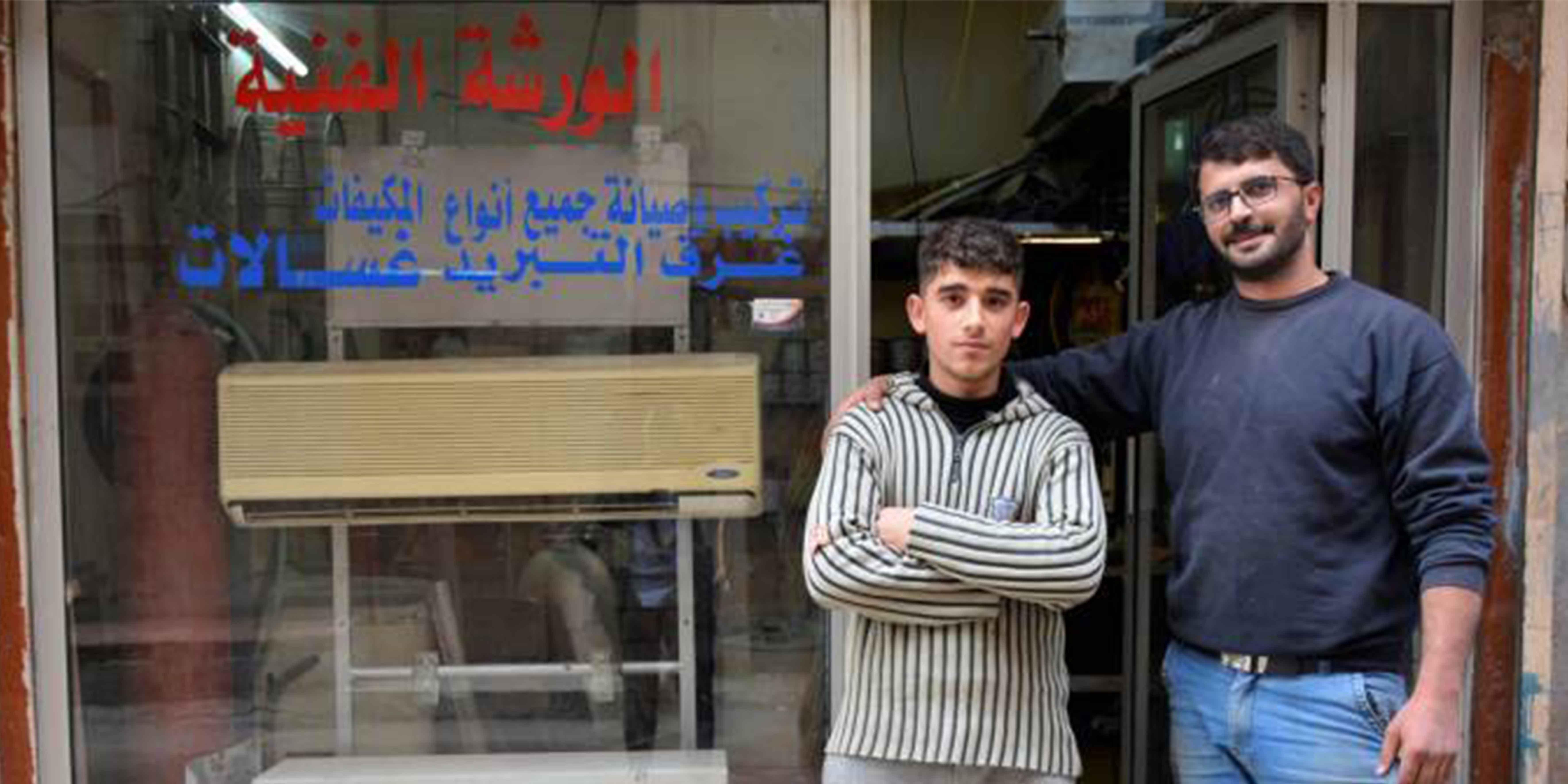 Mustafa es el tercer graduado del Centro de Formación de UNRWA que contrata Tala