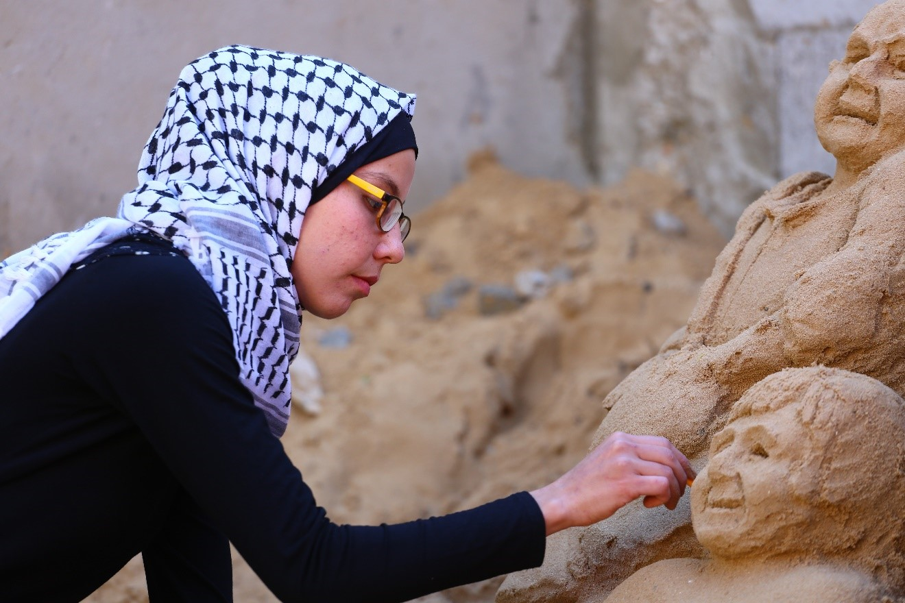 El lienzo de la arena como el arte de la resiliencia