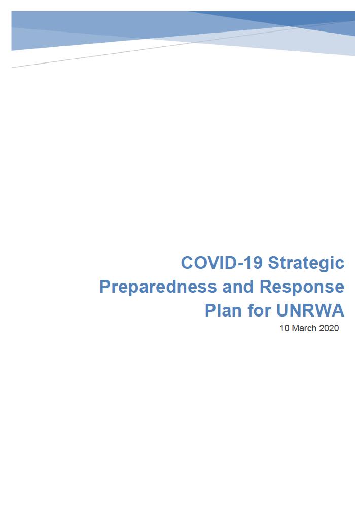 Plan de estrategia de UNRWA frente al COVID-19
