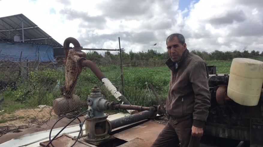 La vida sin agua de un agricultor en Gaza