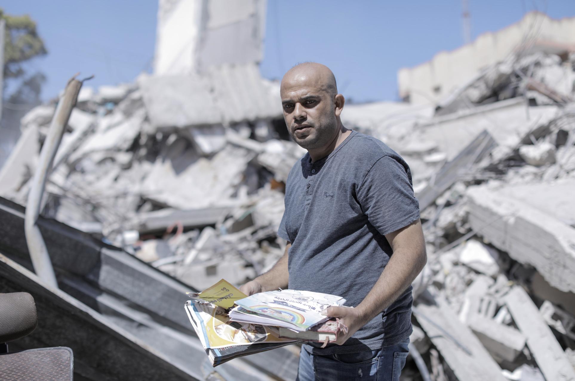 Los ataques aéreos israelíes destrozaron la pasión, el presente, el futuro y los sueños de Ramadán Al-Njeli
