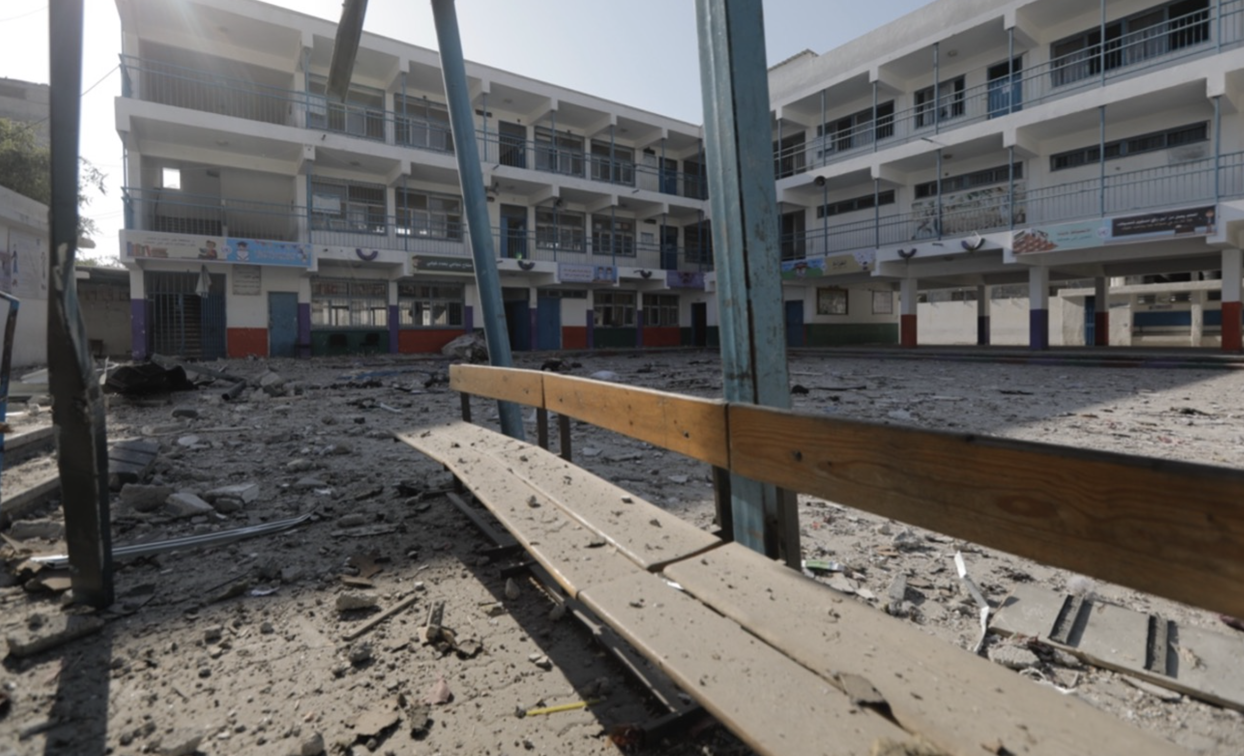 Las escuelas de UNRWA en primera línea: volver al cole en Gaza